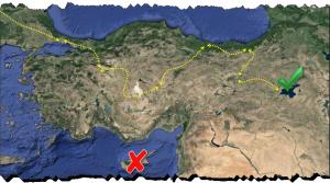 Symbolbild Reiseroute